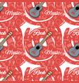 pattern seamless guitar-02 vector image