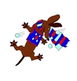 picture dachshund chasing snowballs in the vector image vector image