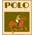 Polo player on horse poster vector image vector image