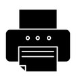 printer solid icon fax vector image vector image