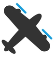 Propeller Aircraft Flat Icon vector image