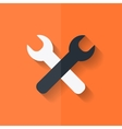 Repair tools icon Technological instrument Flat vector image