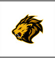 roaring lion e sports logo design vector image