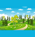 rual summer landscape with trees vector image vector image
