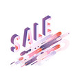 sale vibrant gradient poster template vector image