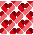 seamless heart pattern ideal for valentine s day vector image vector image