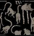 seamless pattern with lemur vector image vector image