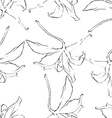 Seamless pattern with Pencil flowers sketch vector image vector image