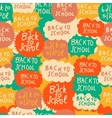 seamless school pattern with speech bubbles vector image vector image