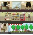set of coffee interior concept design vector image