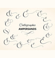 set of custom decorative ampersands isolated vector image