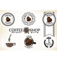set vintage retro coffee shop badges and labels vector image