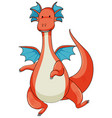 simple cartoon character of dragon isolated vector image