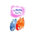 Singing cats vector image vector image
