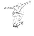 skateboarder line art vector image