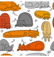 sleeping cats seamless pattern for your design vector image vector image