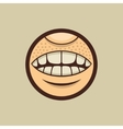 Smile Mouth with Teeth in Circle vector image vector image