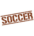 soccer stamp vector image vector image