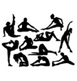 stretching and exercises sport vector image vector image