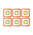 sushi flat design japan food vector image vector image