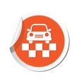 taxi symbol orande tag vector image vector image
