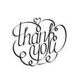 Thank you hand lettering Hand drawing calligraphy vector image