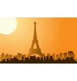 The Eiffel tower in Paris silhouette vector image