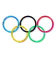 The five rings emblem vector image vector image