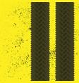 tire tracks grunge wallpaper vector image
