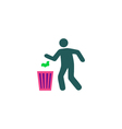 Trash bin Icon vector image vector image