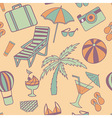 Travel touristic seamless pattern with trip vector image vector image