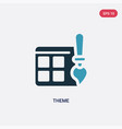 two color theme icon from programming concept vector image vector image