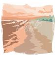 Vintage Postcard Summer Beach vector image vector image