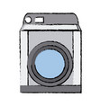 washing machine appliance technology clean vector image