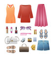 women s casual important outfits set on white vector image