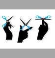 cut hands vector image