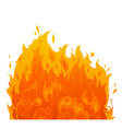 Flame on white background vector image