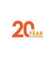 20 year excellence template design vector image vector image