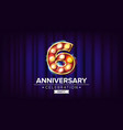6 years anniversary banner sixth sixth vector image vector image