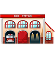 A fire station building vector image