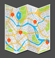 abstract city map with markers vector image