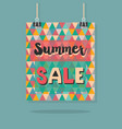abstract retro hanging summer sale message poster vector image vector image