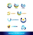Abstract sphere icon logo set vector image