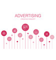 advertising infographic 10 steps templatemarket vector image vector image