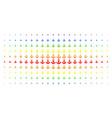 anchor spectrum halftone array vector image