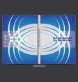 annual report cover design vector image
