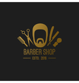 barber logo elements vector image