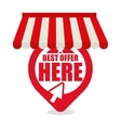 best offer here online shopping vector image