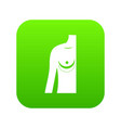 breast implant surgery icon digital green vector image