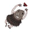 bristling porcupine vector image vector image